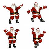 Santa Poses Royalty Free Stock Photos