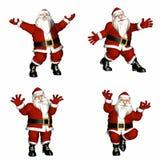 Santa Poses. Santa in various poses Royalty Free Stock Photos