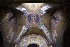 Santa Prassede a Roma Italia è una piccola chiesa che alloggia un segmento presunto della colonna sopra cui Gesù è stato frustato Immagine Stock Libera da Diritti