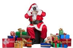 Santa prenant un instantané Photo stock