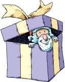 Santa in Present Stock Image