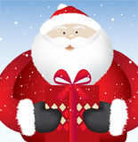 Santa present close Stock Images