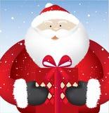 Santa present close Stock Images