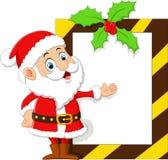 Santa presenting blank sign Stock Photos