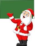 Santa presenting and blank sign Stock Photos