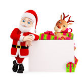 Santa presenting with board Royalty Free Stock Images
