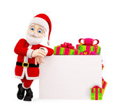 Santa presenting with board Royalty Free Stock Image