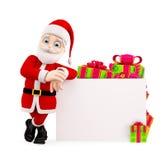 Santa presenting with board Royalty Free Stock Image