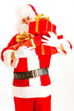 Santa with presents Stock Image