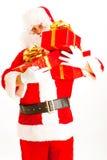 Santa with presents Stock Image