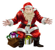 Santa with presents Royalty Free Stock Photo