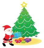 Santa with presents Royalty Free Stock Image