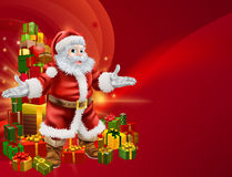 Santa and presents background Royalty Free Stock Photos
