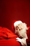Santa and presents Stock Images