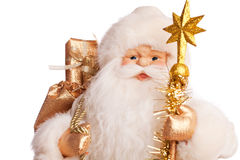 Santa with presents (on white) Royalty Free Stock Photography