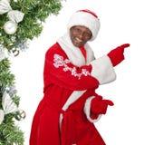 Santa preta imagens de stock