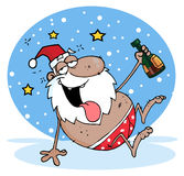 Santa preta bêbeda ilustração stock