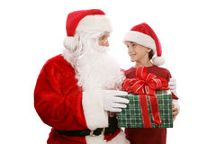 Santa prezent Zdjęcia Royalty Free