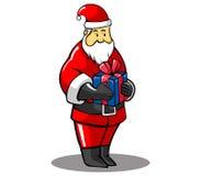 Santa prezent Ilustracji