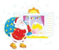 Santa prezenty świąteczne Obrazy Royalty Free