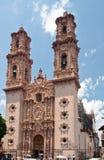 Santa Prisca Church in Taxco Mexico Stock Image