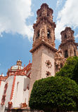 Santa Prisca Church in Taxco Mexico Royalty Free Stock Photo