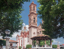 Santa Prisca Church in Taxco Mexico Stock Photo