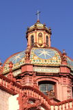 Santa prisca cupola. Cupola of the cathedral of Santa prisca in Taxco, guerrero, mexico stock photos