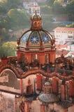 Santa Prisca kyrka i Taxco, Mexico royaltyfria bilder