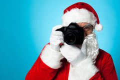 Santa - The Professional Photographer Royalty Free Stock Image