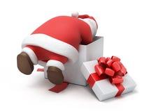 Santa przygotowywa prezenty ilustracja wektor