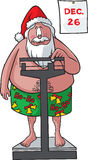 Santa pèse dedans Photos stock
