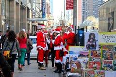 Santa Pub Crawl, Manhattan, NYC Royalty Free Stock Photos