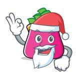 Santa purse character cartoon style. Vector illustration Royalty Free Stock Photo