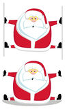 Santa que faz splits Fotos de Stock