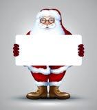 Santa que guarda o projeto do sinal Imagens de Stock Royalty Free