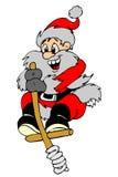 Santa que joga stils ilustração do vetor