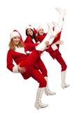 Santa que jogam nos pés gostam em guitarra Imagens de Stock Royalty Free