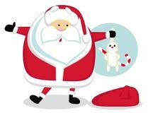 Santa que prende um coelho Imagens de Stock