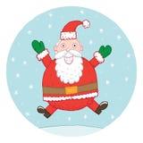 Santa que salta para la alegría Foto de archivo