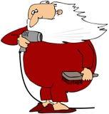 Santa que seca sua barba ilustração royalty free