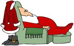 Santa que toma una siesta stock de ilustración