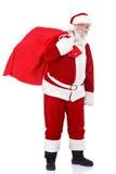 Santa que traz presentes Foto de Stock