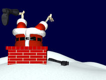Santa que vai abaixo da chaminé 3 ilustração royalty free