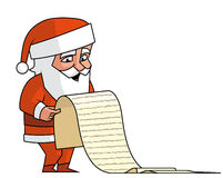 Santa read the wist list Royalty Free Stock Photos
