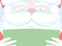 Santa reading green paper. Stock Photography