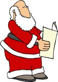 Santa Reading the Paper Stock Photo