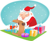Santa reading wish list Royalty Free Stock Photography