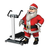 Santa Ready to Exercise Stock Photo