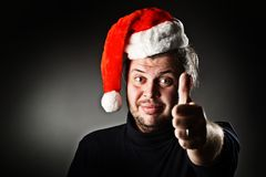 Santa recommandent. Photos stock